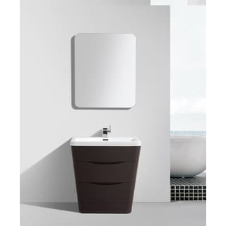 Eviva Victoria 31-inch Chest Nut Modern Bathroom Vanity with White Integrated Acrylic Sink