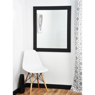 BrandtWorks Matte Black Wall Mirror 27 x 32