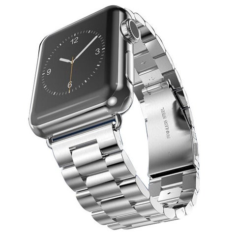 iPM Stainless Steel 42mm Replacement Link Watch Band for Apple Watch