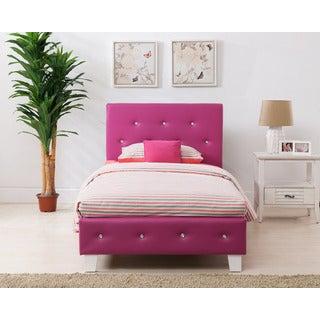 Kelsey Pink Upholstered Bed