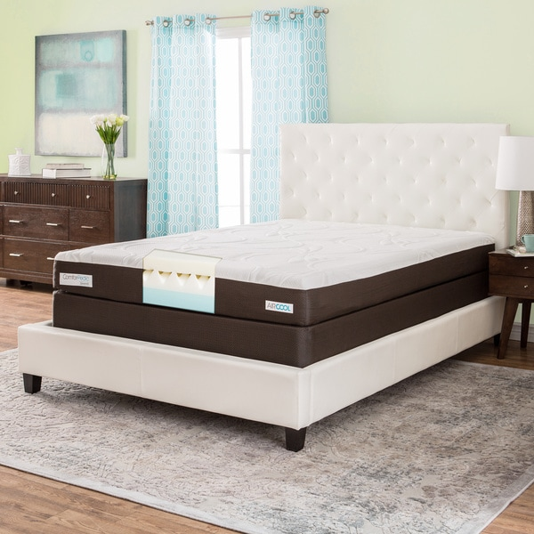 shop comforpedic from beautyrest 8 inch queen size memory foam mattress set free shipping. Black Bedroom Furniture Sets. Home Design Ideas