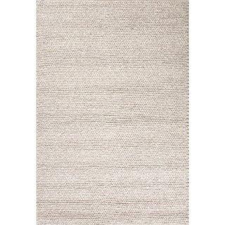 """Kallan Handmade Solid Gray Area Rug (9' X 12') - 8'10"""" x 11'9"""""""