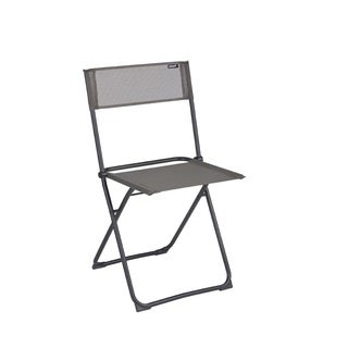 Lafuma Anytime Black Steel Folding Chair (Set of 2)