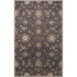 "Savani Handmade Floral Gray/ Tan Area Rug (9'6"" X 13'6"")"