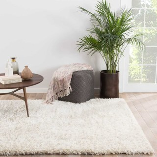 Axel Solid White Area Rug (9' X 12') - 9' x 12'