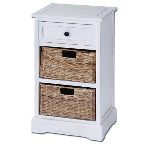 Ariana Solid Wood 3-drawer Storage Side Table Nightstand