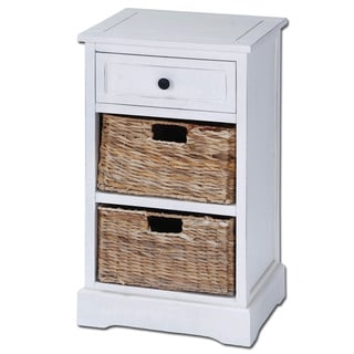 Ariana 3-drawer Storage Wood Side Table Nightstand