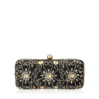 Jasbir Gill JG/SL/CL016 Black and Gold Leather Clutch (India)
