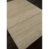 "Solis Natural Solid Beige/ Blue Area Rug - 9'6"" x 13'6"""