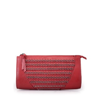 Jasbir Gill JG/SL/CL196 Red Leather Clutch (India)