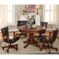 Furniture of America Preston 5-piece Chestnut 3-in-1 Poker Game Table Set