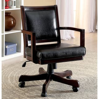 Furniture of America Karson Dark Cherry Game Arm Chair|https://ak1.ostkcdn.com/images/products/10952114/P17978176.jpg?impolicy=medium