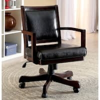Furniture of America Karson Dark Cherry Game Arm Chair