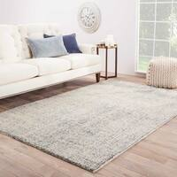 "Richmond Handmade Abstract Teal/ Light Gray Area Rug (9'6"" X 13'6"")"
