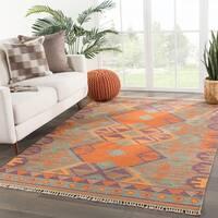 Meryem Handmade Geometric Multicolor Area Rug (9' X 12')