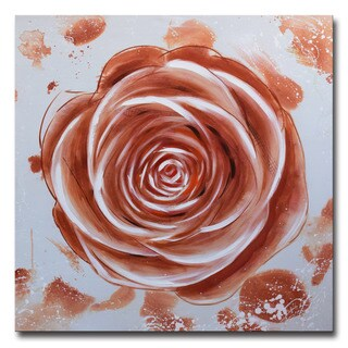 Design Art -Modern Rose Hand Painted in Oil - 40 x 40