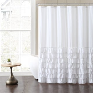 Genial VCNY Melanie Ruffle Shower Curtain