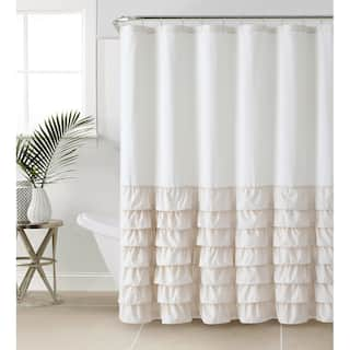 pretty dragonfly shower curtains. VCNY Melanie Ruffle Shower Curtain  Option Taupe Brown Curtains For Less Overstock com Vibrant Fabric