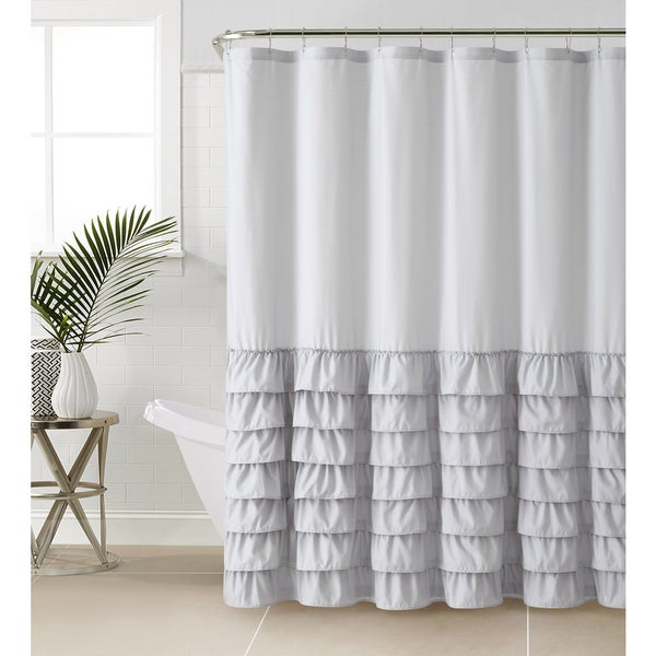 vcny melanie ruffle shower curtain free shipping on orders over 45