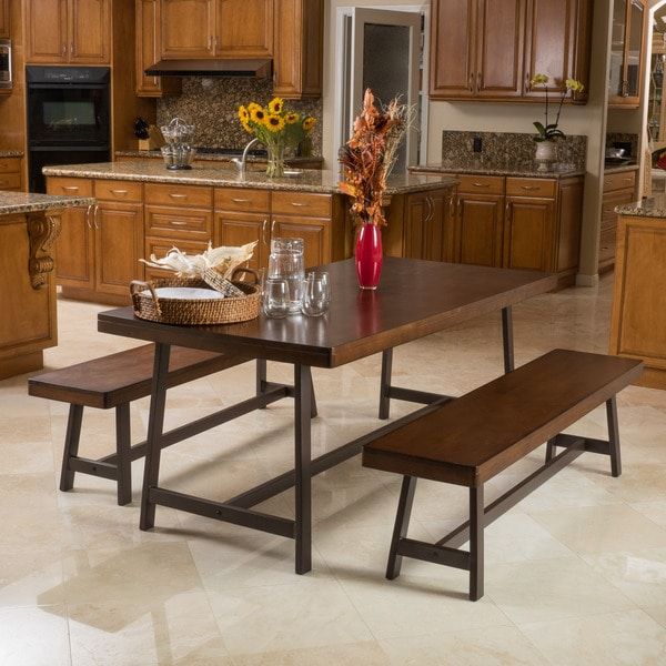 Marion Wood 3-piece Picnic Dining Set by Christopher Knight Home ...