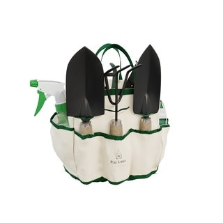Pure Garden 8 Piece Garden Tool and Tote Set