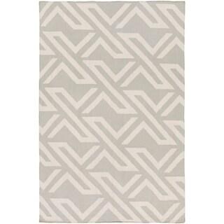Hand-Woven Buckingham Viscose/Cotton Area Rug (6 x 9 - Light Grey)
