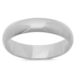 Sterling Essentials Polished Wedding Band in Sterling Silver (sizes 5-12 )
