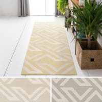 Hand-Woven Buckingham Viscose/Cotton Area Rug (2'6 x 8') - 2'6 x 8'