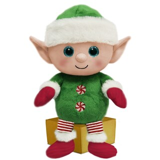 First & Main Stuffed Holiday Elf