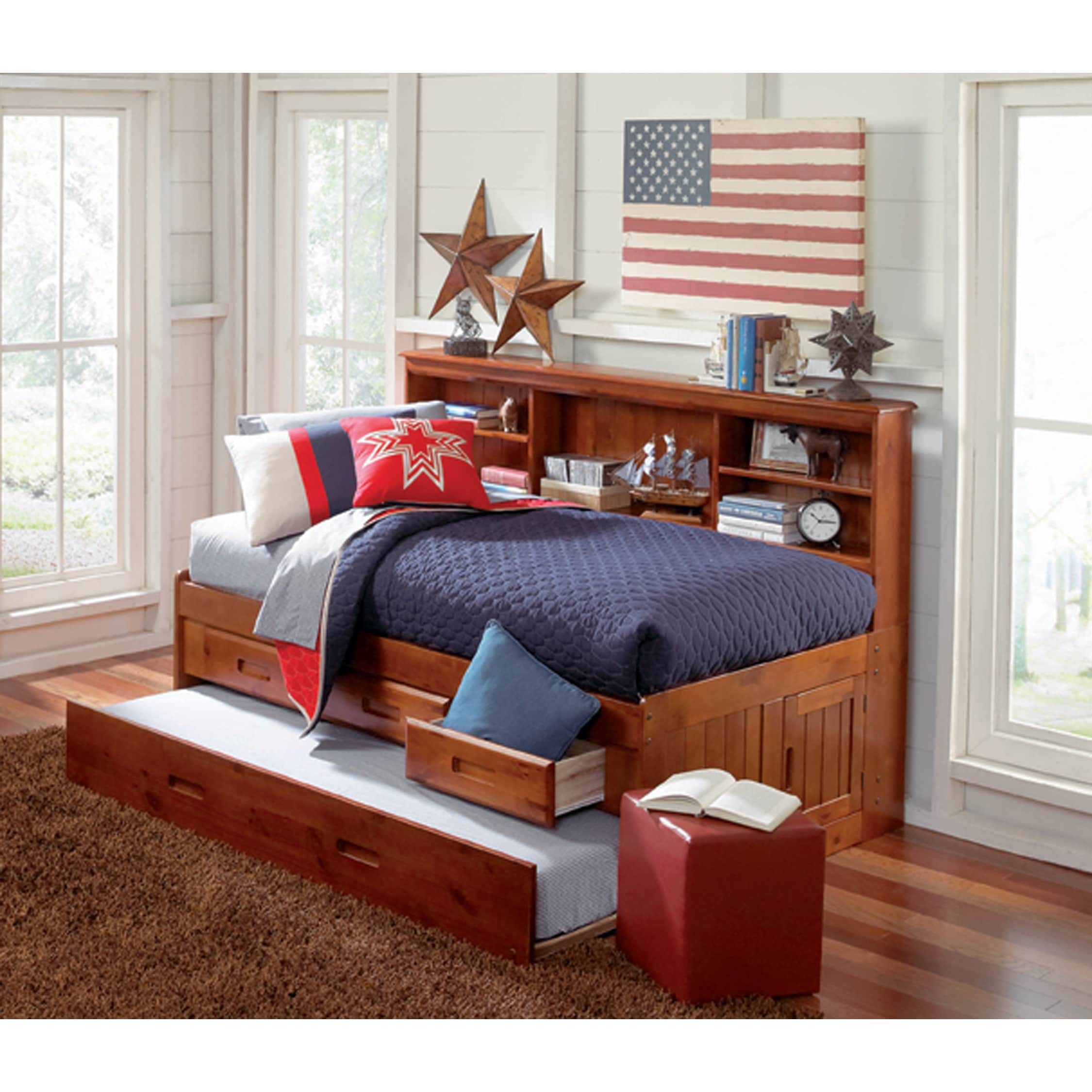 Merlot Twin 3 Drawer Daybed And Twin Trundle