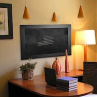 American Made Rayne Black Satin Wide Blackboard/Chalkboard