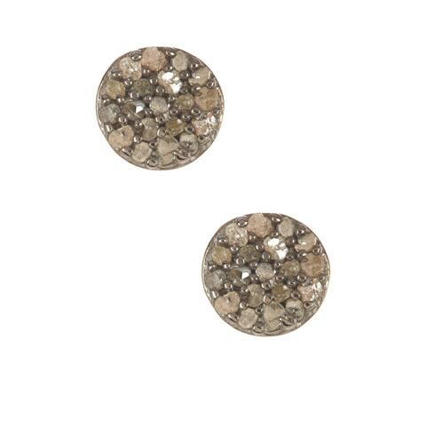 Pori Sterling Silver 1/4ct TDW Rough Diamond Stud Earrings