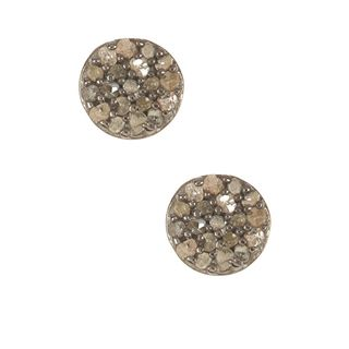 Pori Sterling Silver 1/4ct TDW Rough Diamond Stud Earrings