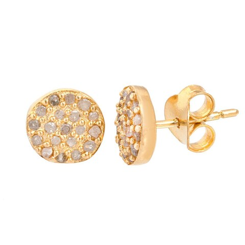 Pori 18k Goldplated Silver 2 1/4ct TDW Diamond Stud Earrings