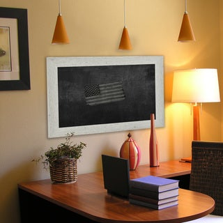 American Made Rayne White Washed Antique Blackboard/ Chalkboard