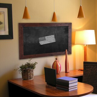American Made Rayne Rustic Dark Walnut Blackboard/Chalboard