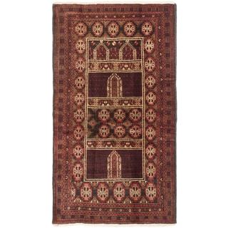 ecarpetgallery Finest Rizbaft Brown/ Red Wool Rug (3'7 x 6'5)