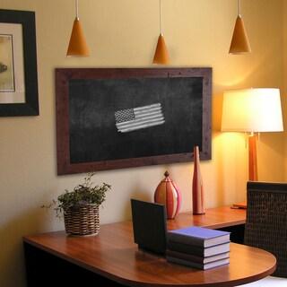 American Made Rayne Rustic Dark Walnut Blackboard/Chalkboard