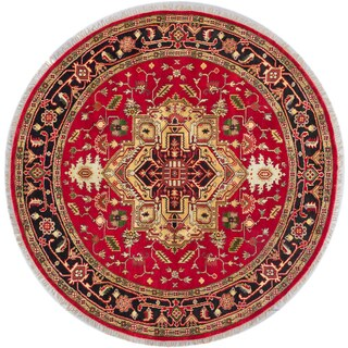 ecarpetgallery Serapi Heritage Red Wool Rug (7'11 x 7'11)