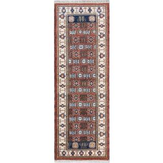 ecarpetgallery Royal Kazak Brown Wool Rug (2'10 x 8'2)