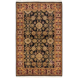 ecarpetgallery Finest Agra Jaipur Black/ Red Wool Rug (5'3 x 8'4)