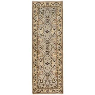 ecarpetgallery Royal Ushak Grey Wool Rug (2'9 x 8')