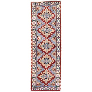 ecarpetgallery Royal Kazak Orange Wool Rug (2'9 x 8'2)