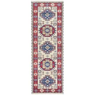 ecarpetgallery Royal Kazak Beige Wool Rug (2'11 x 8'3)