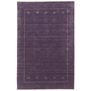 ecarpetgallery Kashkuli Gabbeh Purple Wool Rug (8' x 10')
