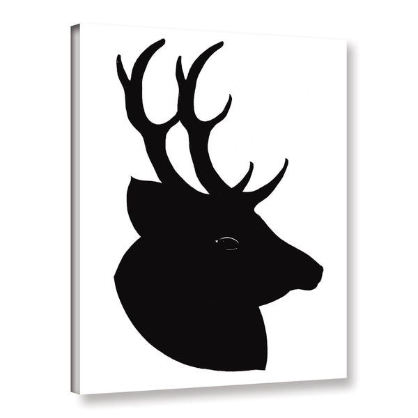 ArtWall Sarah Ogren's Deer Silhouette, Gallery Wrapped Canvas