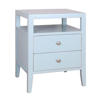 Porthos Home Hana 2 Drawer Lacquer End Table