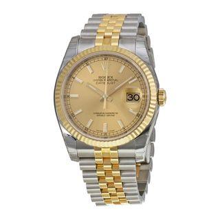 Rolex Men's Datejust Golden Dial Watch