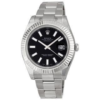 Rolex Men's Datejust II Black Dial Watch