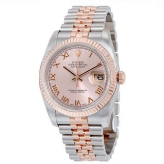 Rolex Men's Datejust Pink Dial Watch